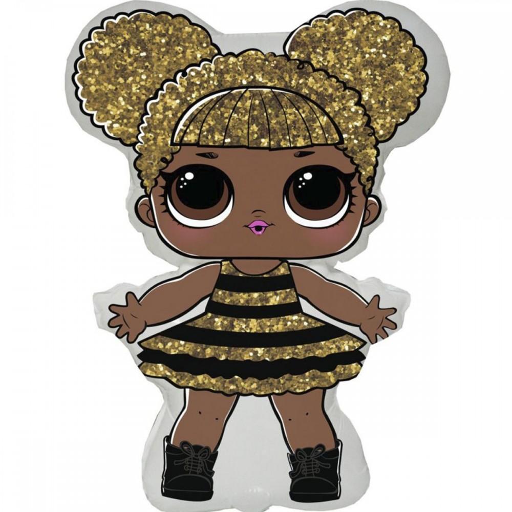 3207-1551 Шар фольгированный  Кукла ЛОЛ Квин Би, размер 60х86 см