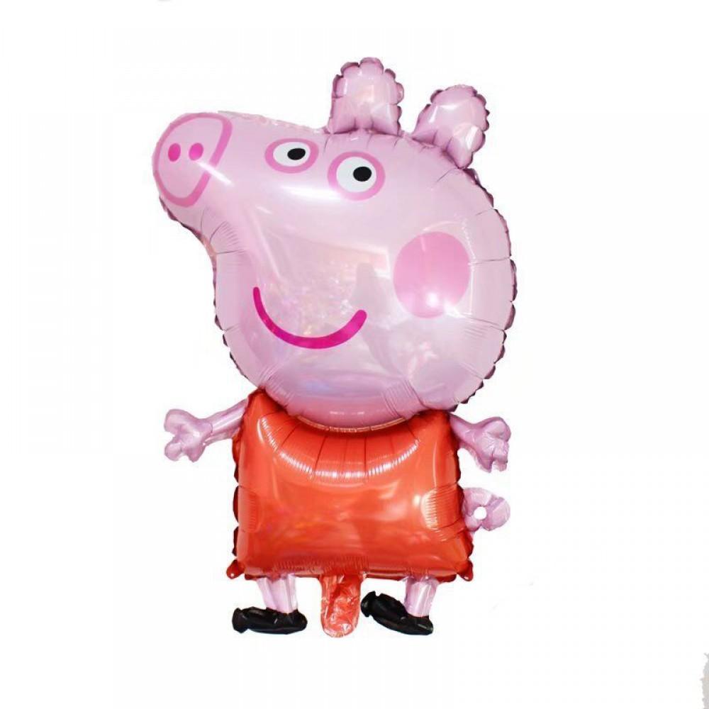 5207-0001 Шар фольгированный с гелием  Свинка Пеппа, размер 68х45 см
