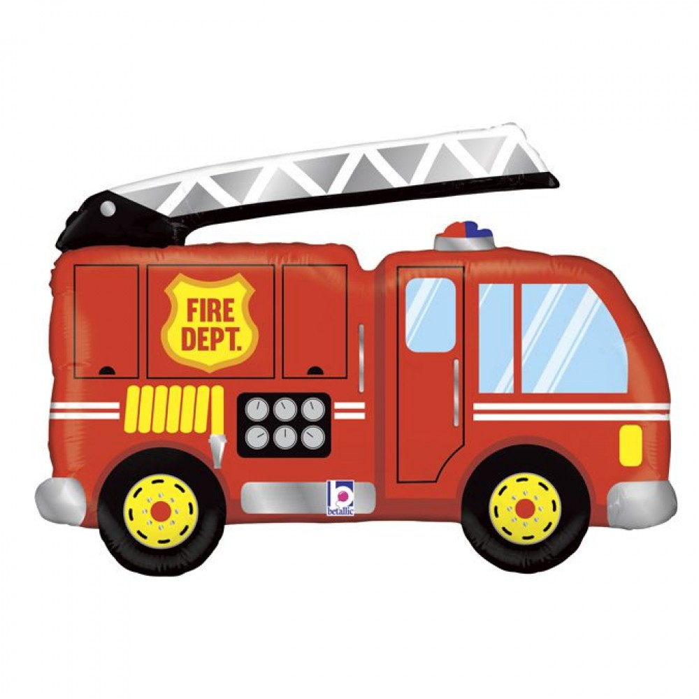 3207-1397 Кулька фольгована з гелієм  Пожежна машина, розмір 48х79 см