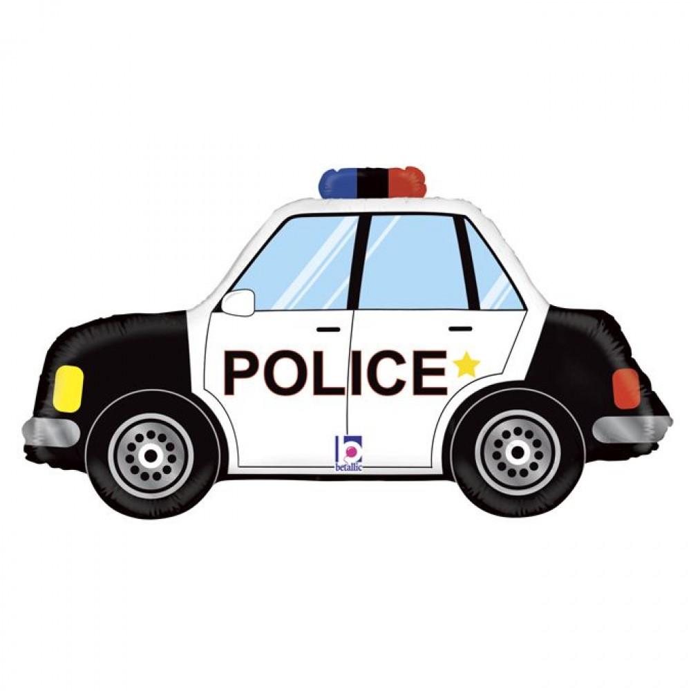 3207-1398 Кулька фольгована з гелієм  Поліцейський автомобіль, розмір 43х80 см