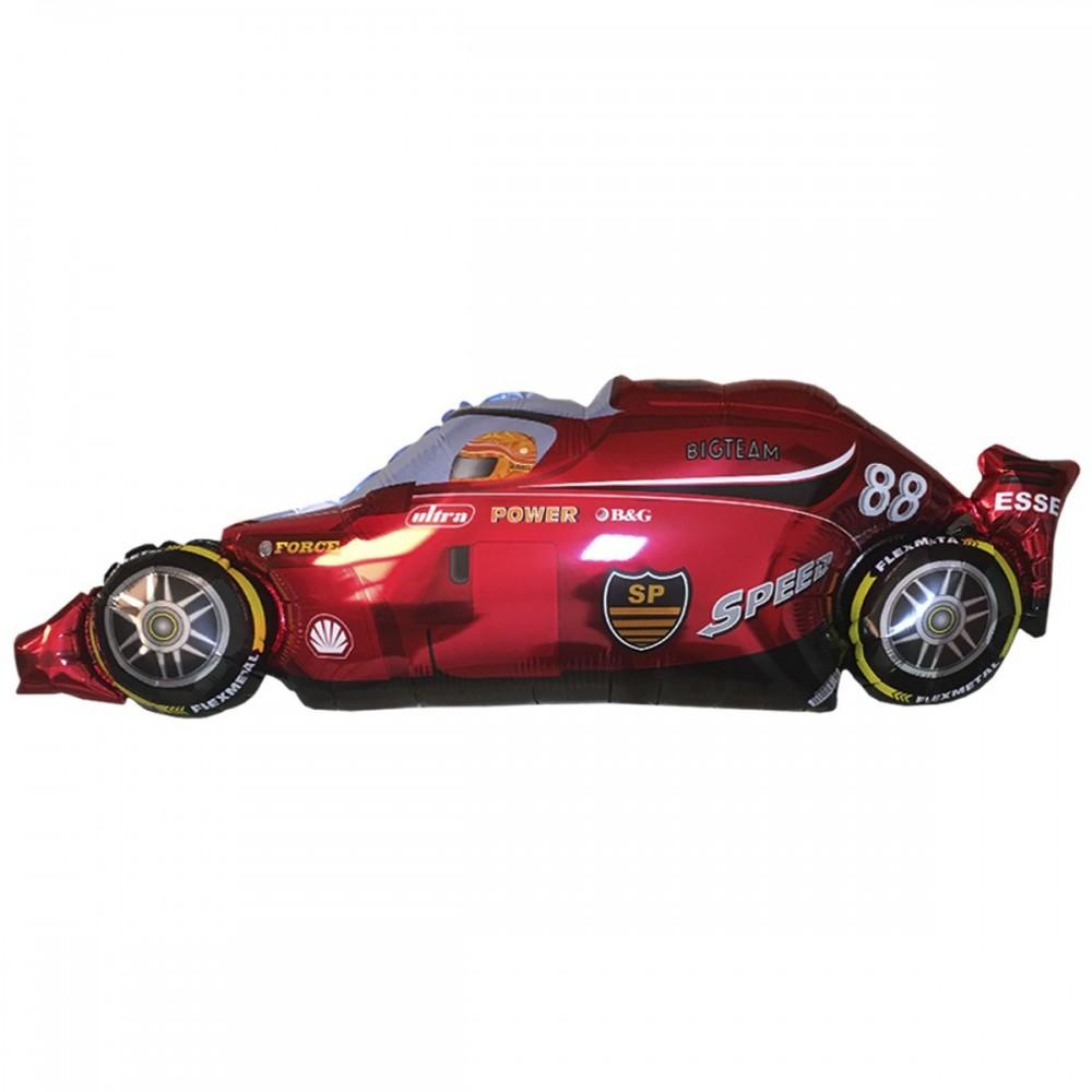1207-0798 Шар фольгированный с гелием  Машина гоночная красная, размер 52х82 см