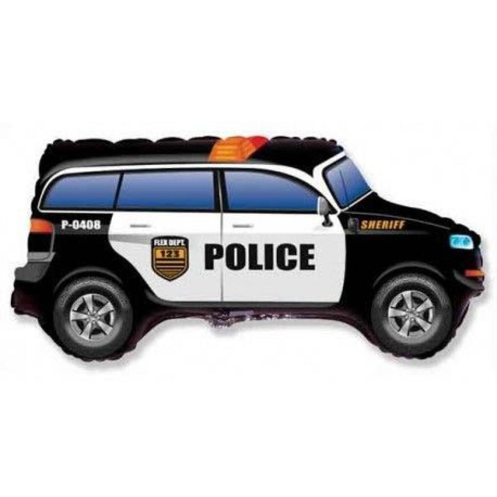3207-1353 Шар фольгированный с гелием  Полицейская машина, размер 85х46 см