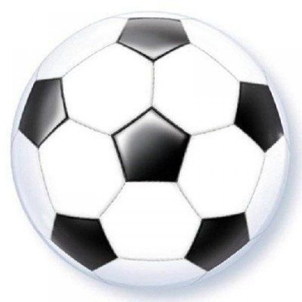 1202-3025 Шар фольгированный с гелием  Bubble Мяч футбольный 22, размер 41х41 см