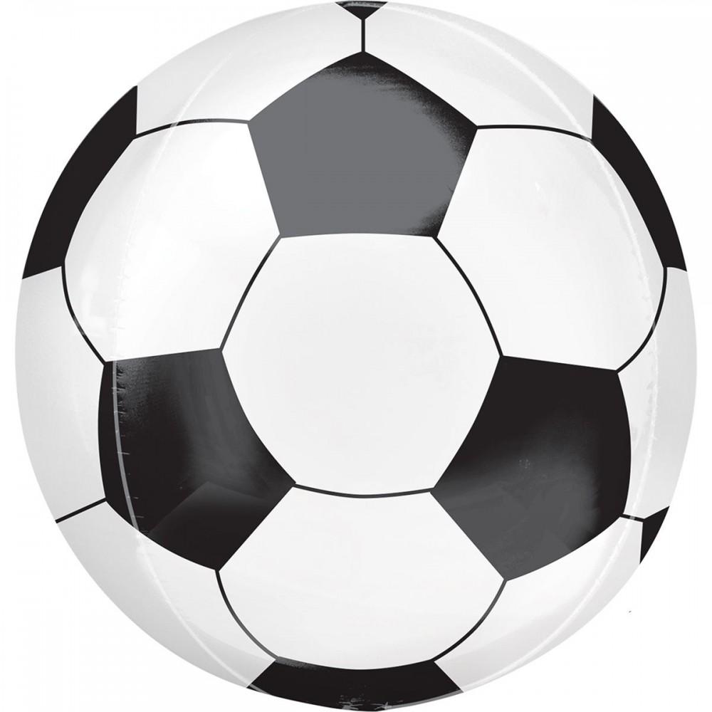 3209-0035 Шар фольгированный с гелием  Сфера Мяч футбольный 15, размер 38х40 см