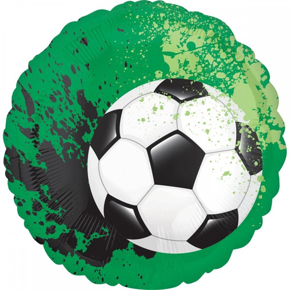 3202-0732 Шар фольгированный с гелием  Круг Футбол 18, размер 45х45 см