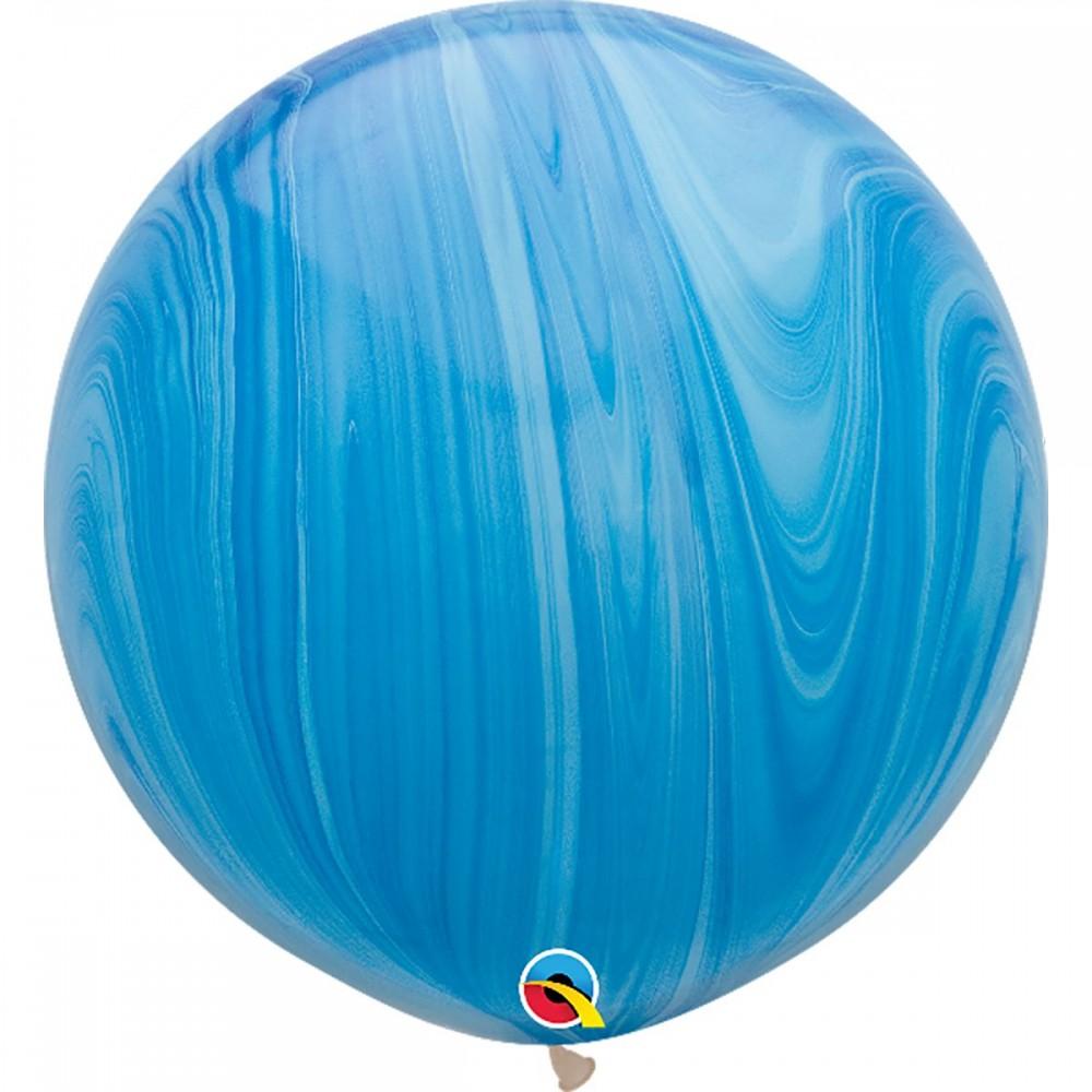 """Латексный шар с гелием  Агат Голубой 30"""""""", артикул 1108-0350"""