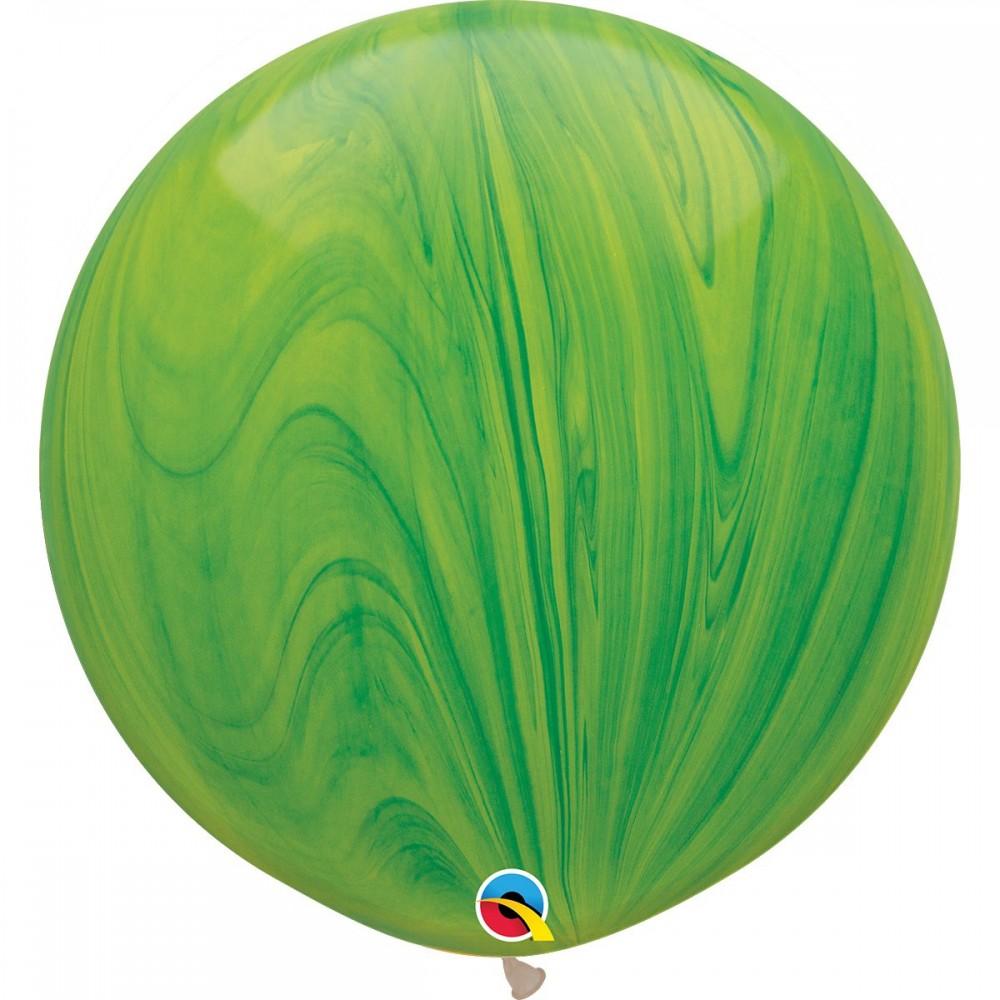 "Латексный шар с гелием  Агат Зеленый 30"""", артикул 1108-0351"