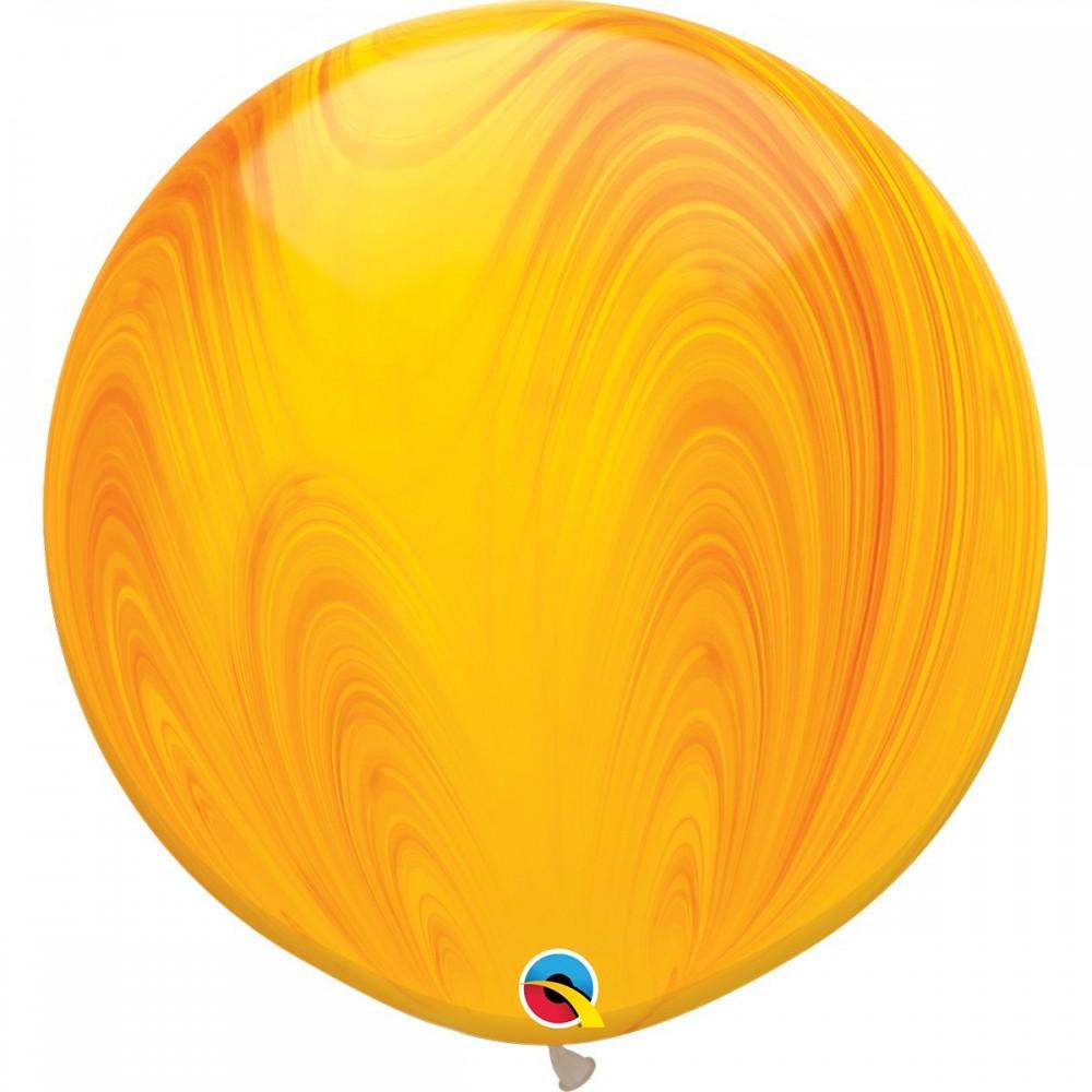 "Латексный шар с гелием  Агат Желто - Оранжевый 30"""", артикул 1108-0354"