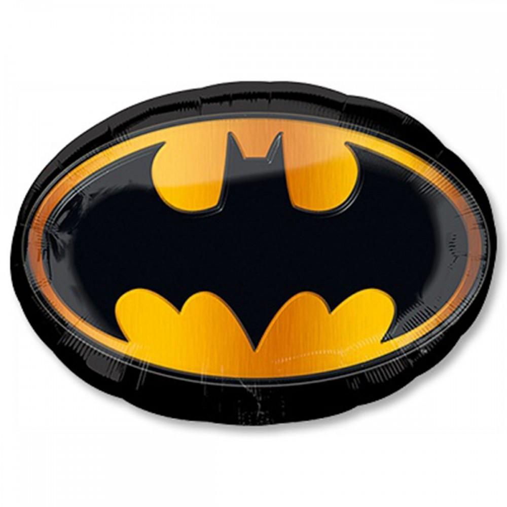 1207-2763 Шар фольгированный с гелием  Бетмен эмблема, размер 41х31 см
