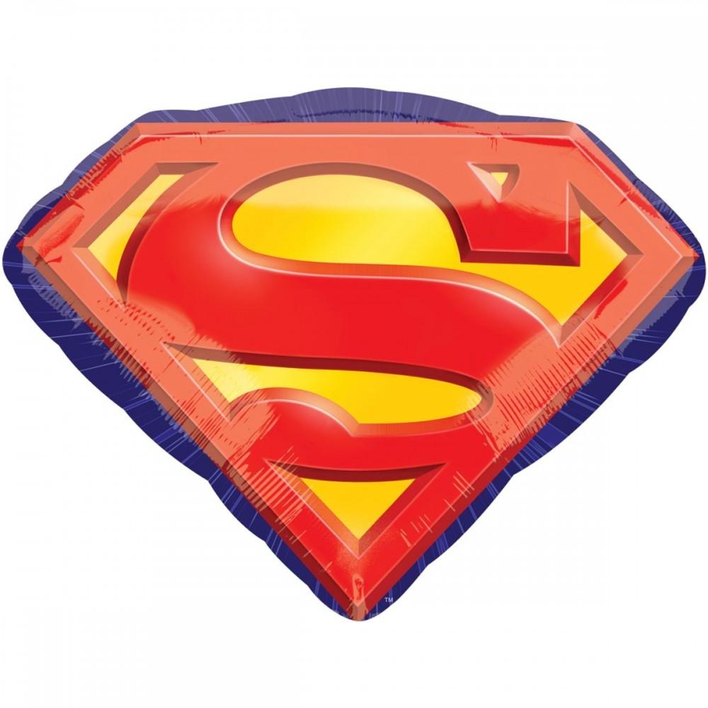 1207-2764 Шар фольгированный с гелием  Супермен эмблема, размер 66х50 см