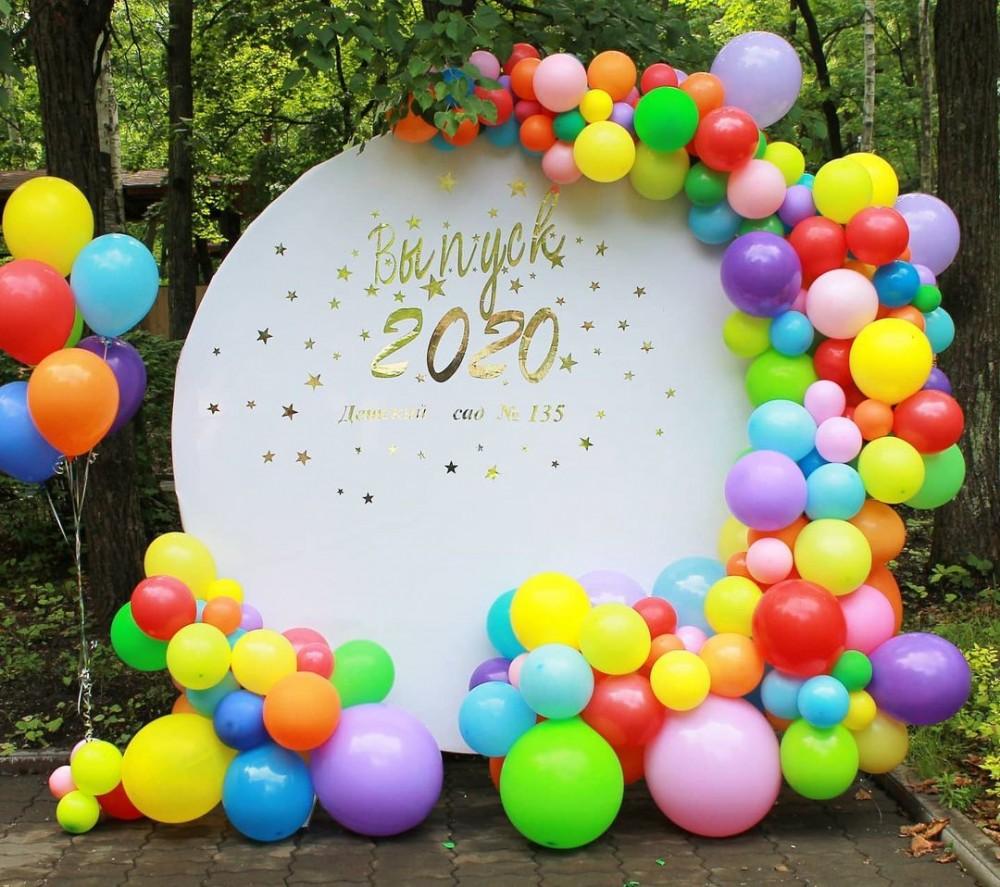 1110-0014 Фотозона из воздушных шаров, размер 2000 на 2000