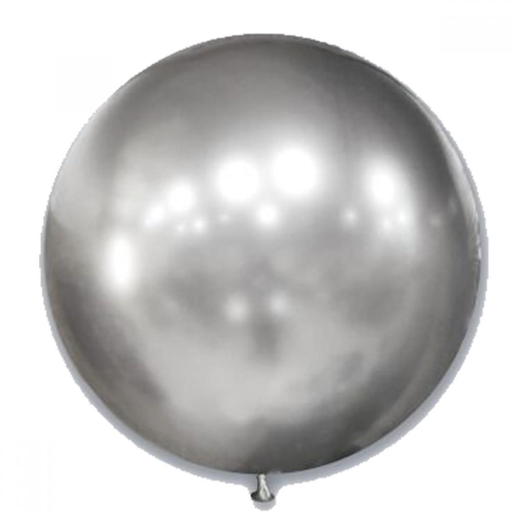 "Латексный шар с гелием  Хром Серебро 36"", артикул 1103-5002"