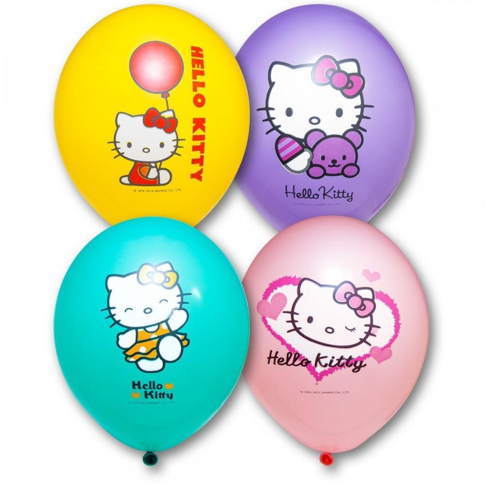 """Шар с гелием  Пастель Hello Kitty 14"""", артикул 1103-1090"""