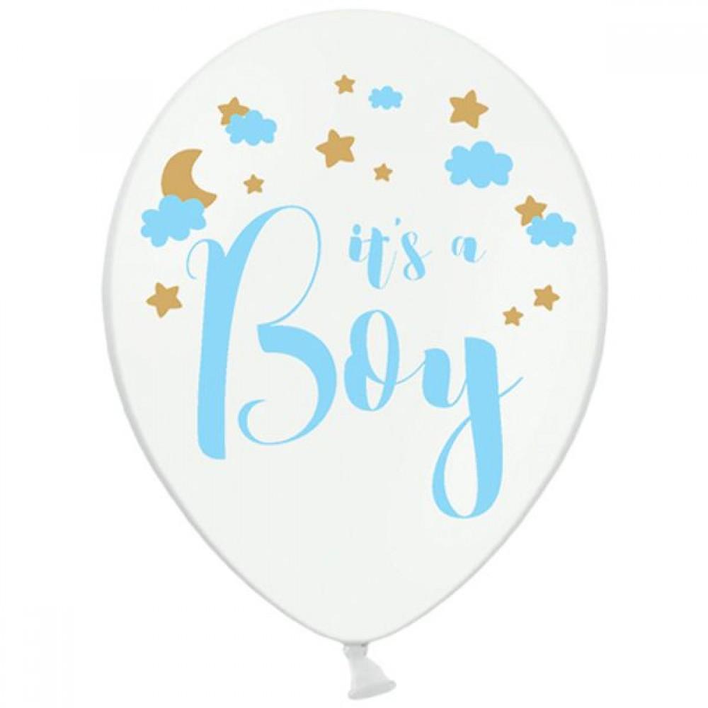 """Шар латексный  Пастель It's a boy 14"""", артикул 3103-1148"""