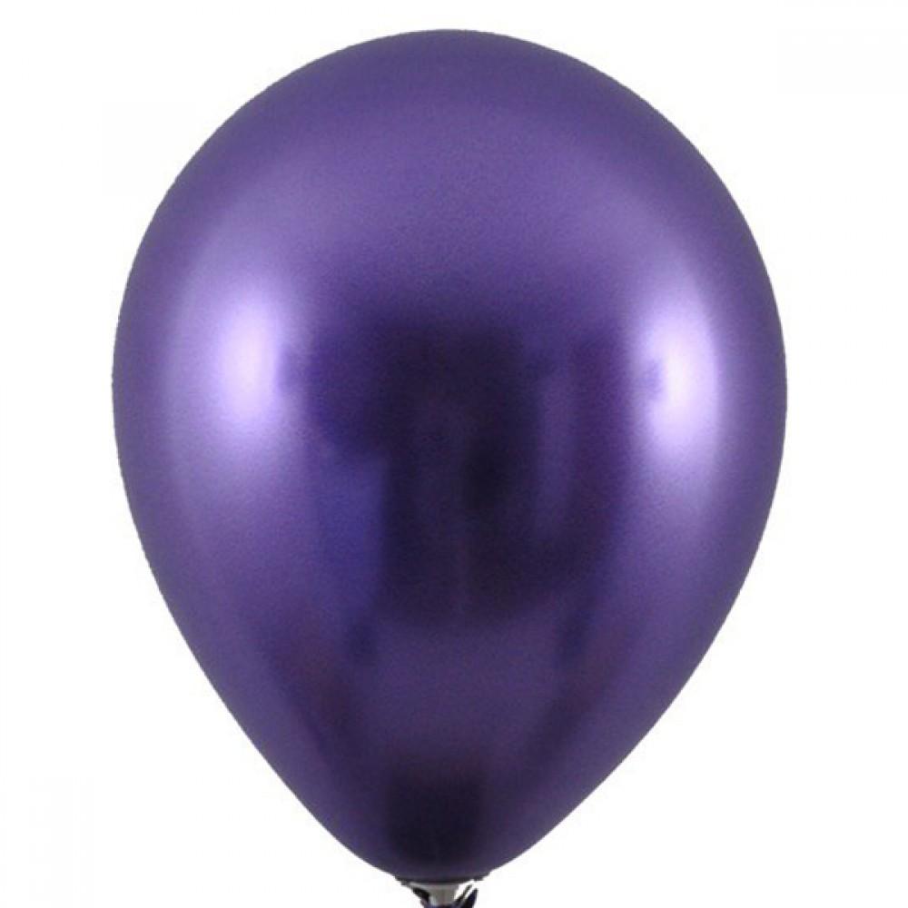 """Латексный шар с гелием  Хром Фиолетовый 12"""", артикул 3102-0080"""