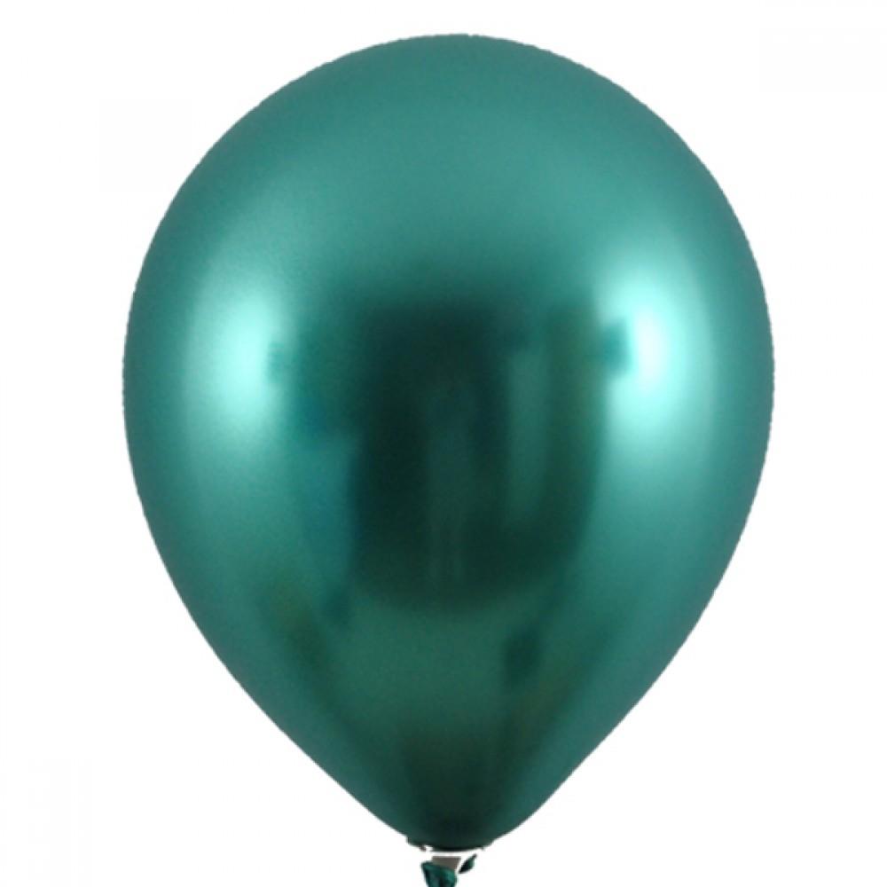 """Кулька латексна з гелієм  Хром Зелений 12"""", артикул 3102-0082"""