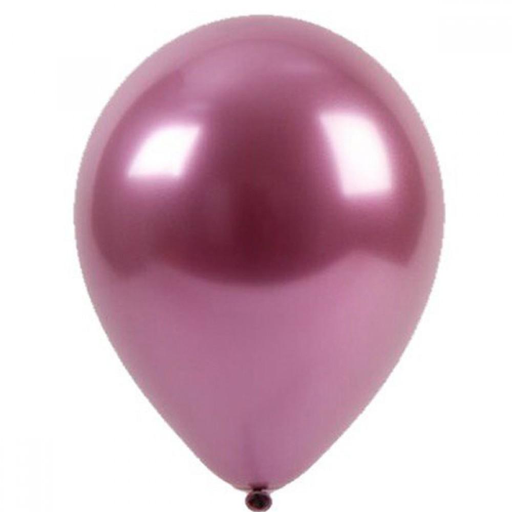 """Латексный шар с гелием  Хром Малиновый 12"""", артикул 3102-0083"""