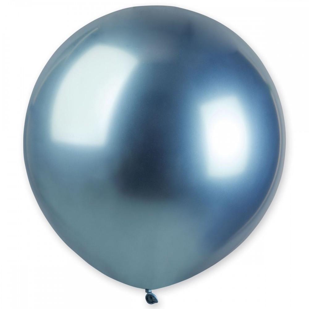 "Латексный шар с гелием  Хром Синий 18"", артикул 3102-0543"