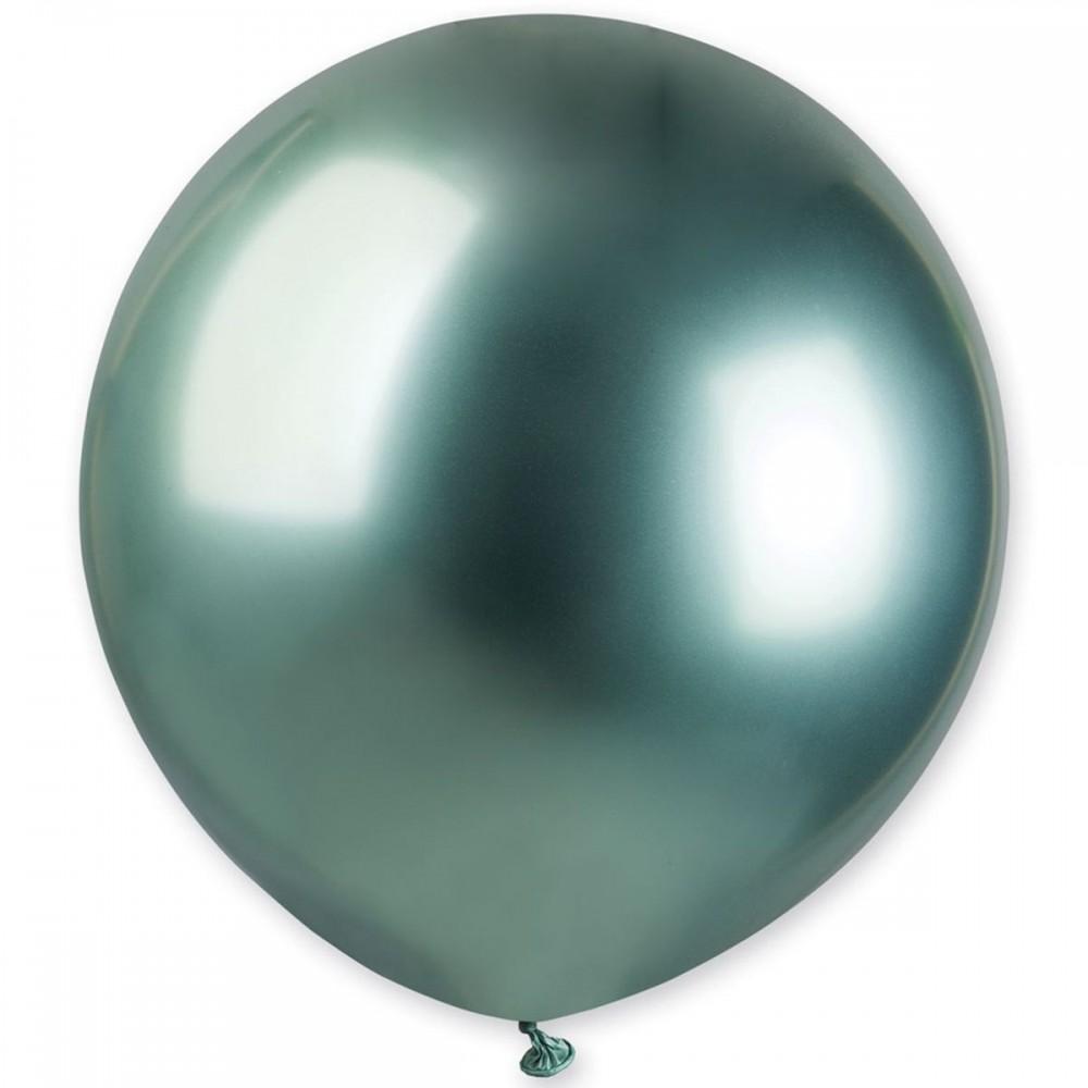 """Кулька латексна з гелієм  Хром Зелений 18"""", артикул 3102-0544"""
