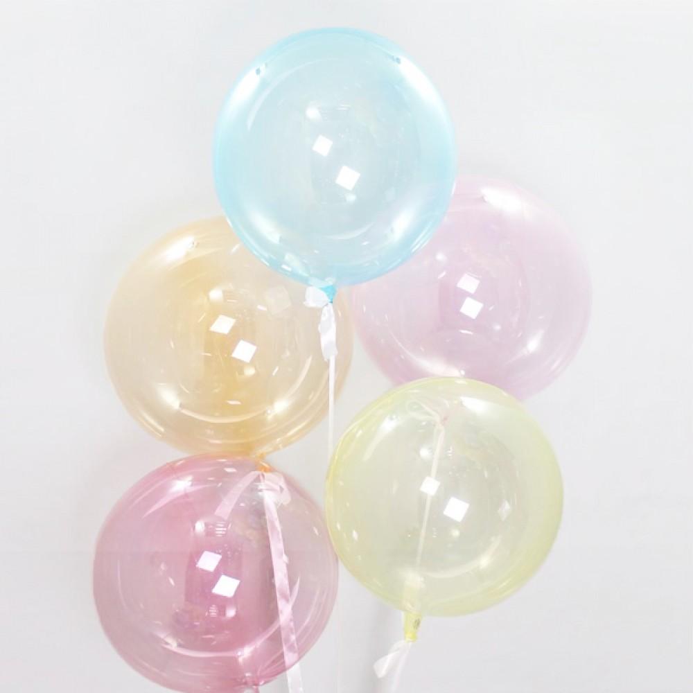 """Кулька латексна з гелієм  Кристал льодяник RAINBOW 18"""", артикул 1114-0002"""