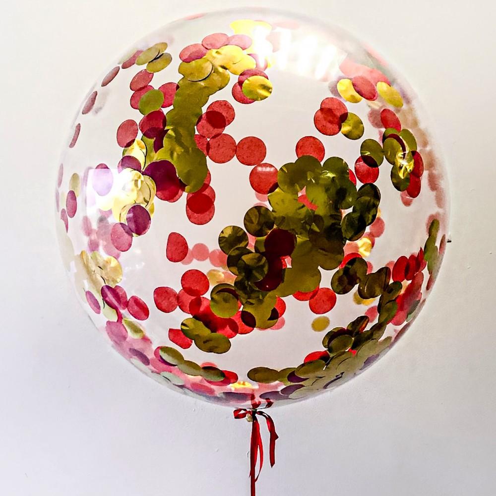 """Кулька латексна з гелієм  Прозора з метафаном  27"""", артикул 1114-0006"""