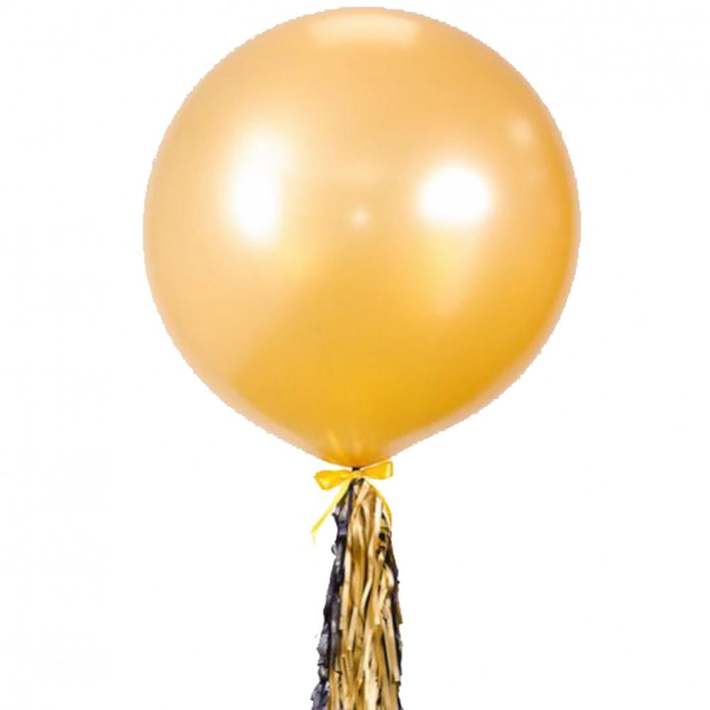 """Кулька латексна з гелієм  Пастель/Металік 36 з хвостом із фольги"""", артикул 1114-0010"""