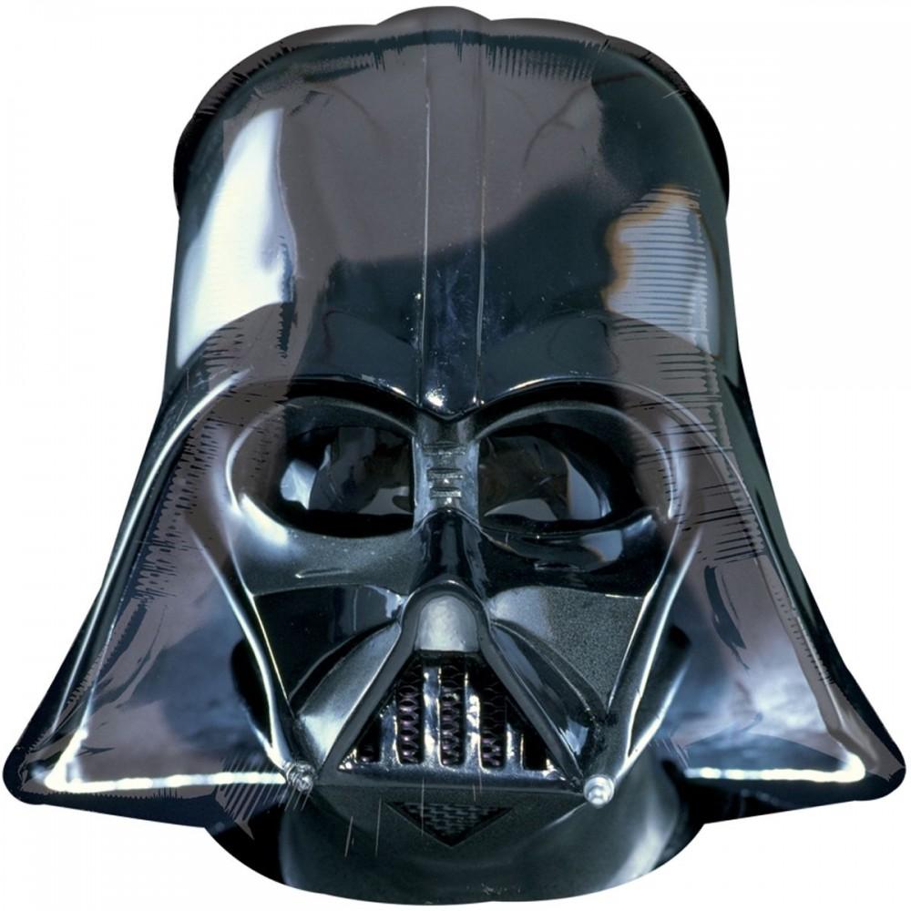 1207-3215 Шар фольгированный с гелием   Звездные войны Шлем Вейдера, размер 63х60 см