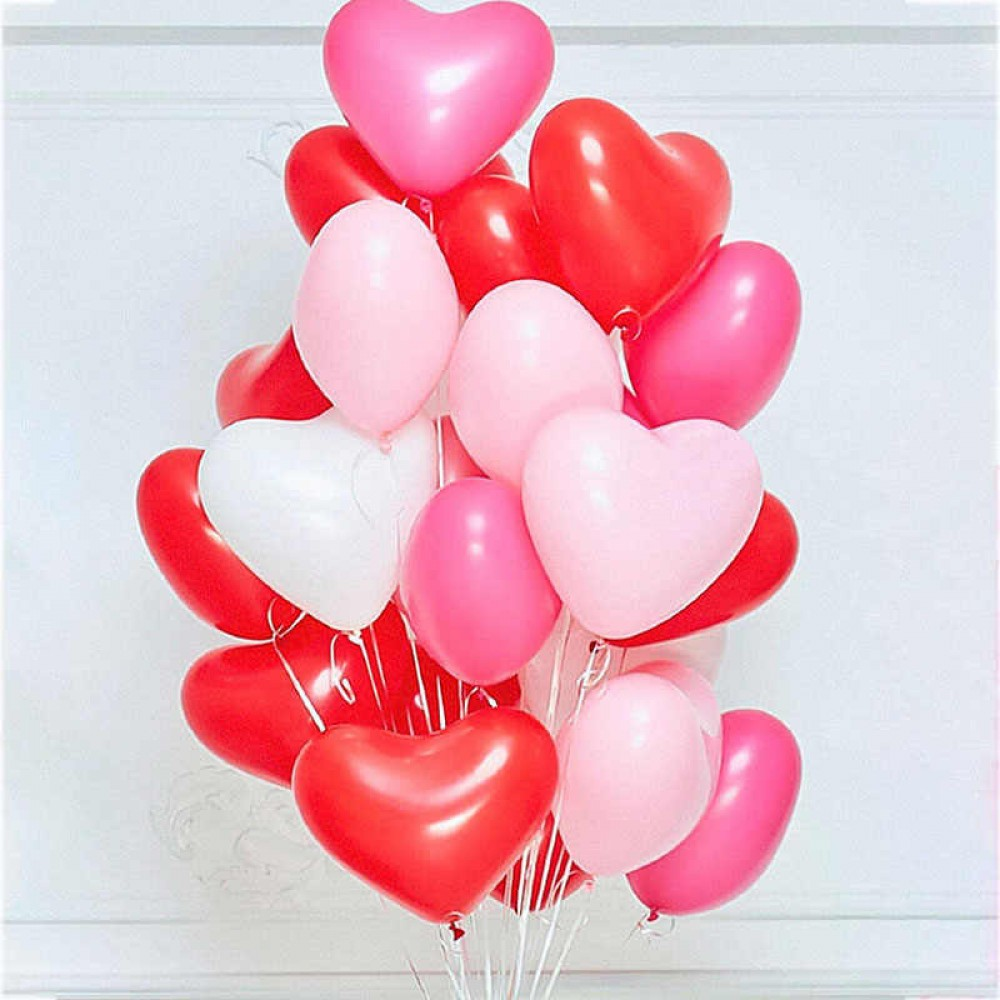 "Латексный шар с гелием  Сердце (c Hi-Float) 10"", артикул 1103-0009"
