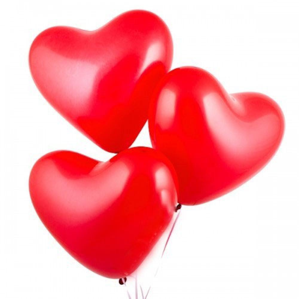 "Латексный шар с гелием  Сердце (с Hi-Float) 17"", артикул 1103-0010"