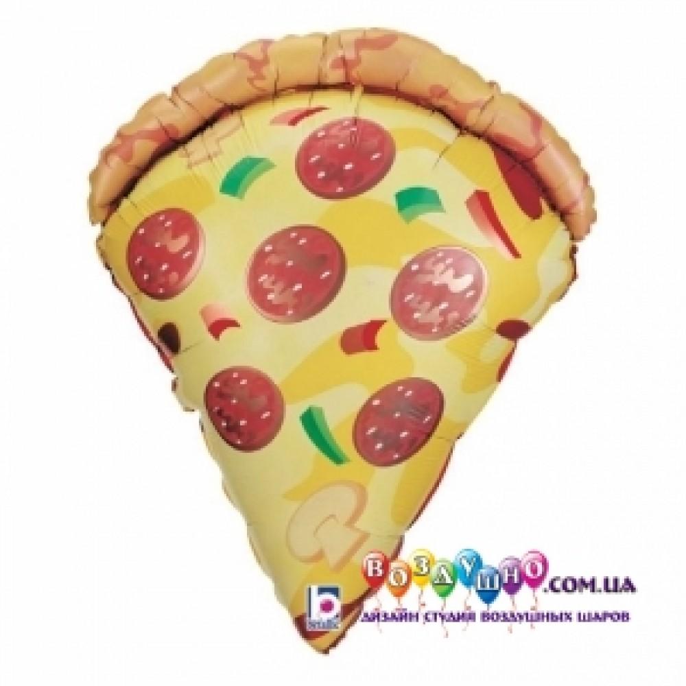 3207-1405 Шар фольгированный с гелием  Кусок пиццы, размер 46х61 см