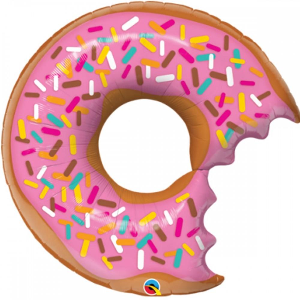 3207-1105 Шар фольгированный с гелием  Пончик, размер 66х69 см
