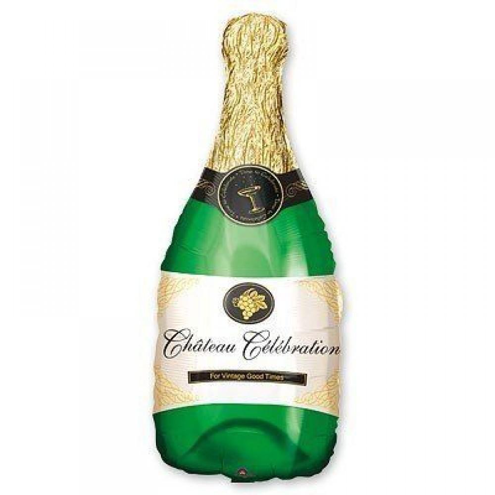 1207-0503 Шар фольгированный с гелием   Бутылка шампанского, размер 35х91 см