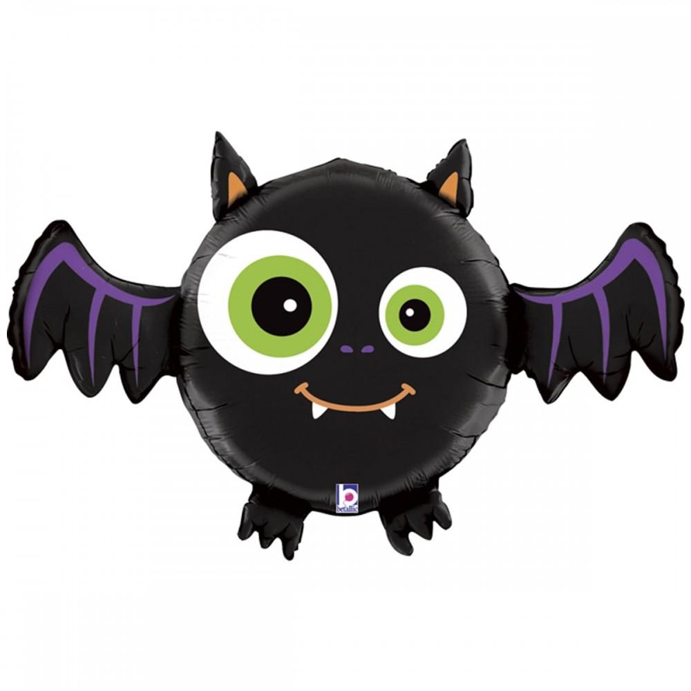 3207-2424 Шар фольгированный с гелием  Хеллоуин Летучая мышь, размер 0х0 см