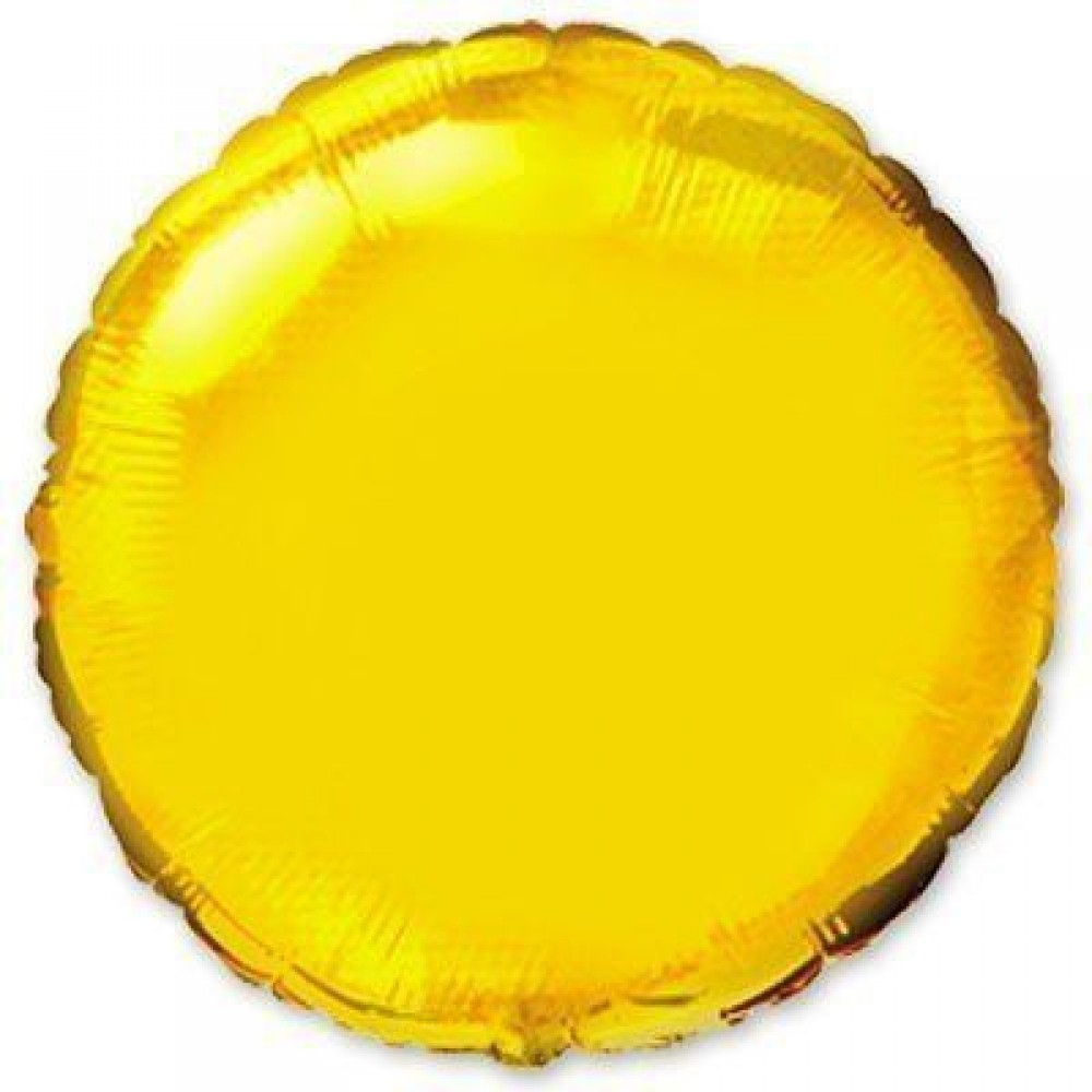 """1204-0116 Шар фольгированный с гелием  Круг Золото 32"""", размер 79 см"""