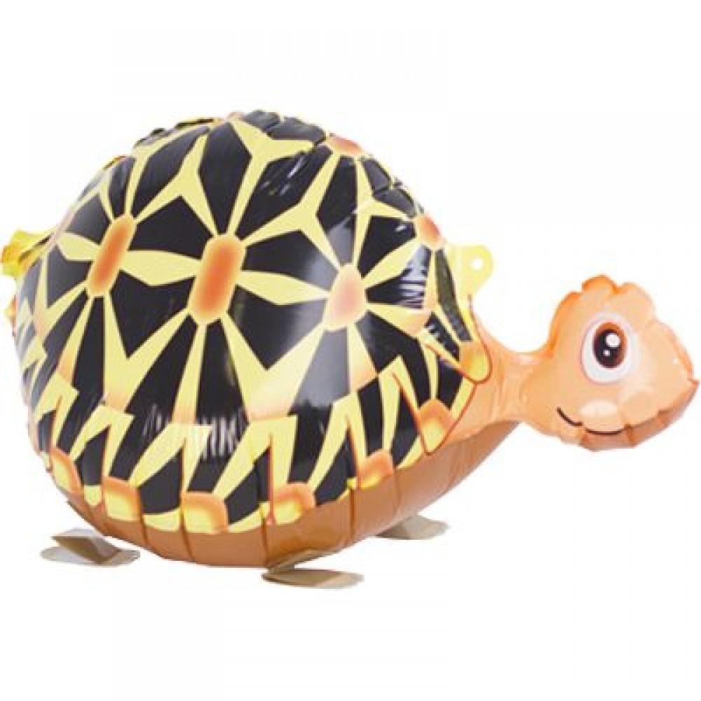 1208-0378 Ходячая фольгированная фигура с гелием  Черепаха, размер 56х29 см